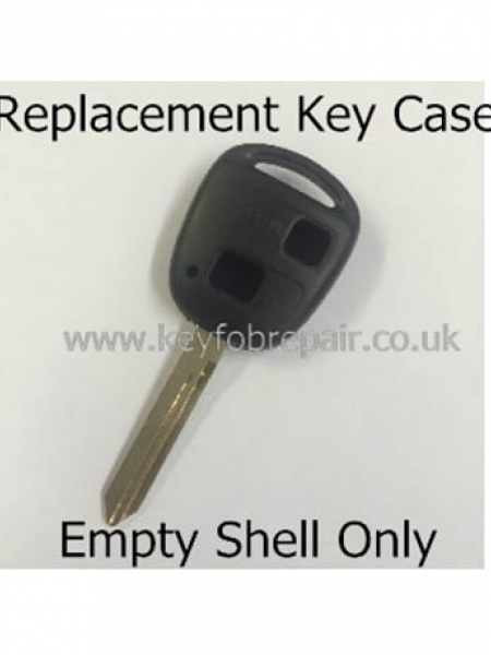 Toyota TOY47 2 Button Key Fob Case-Yaris Celica Rav4 Land Cruiser Etc